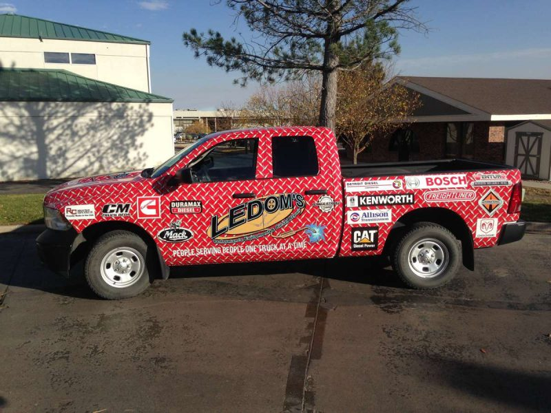 ledoms wrap complete e1492536314470 - Hunting Last-Minute Customers with Business Car Graphics