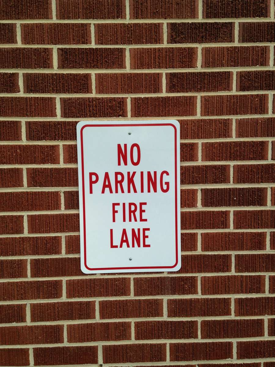 Rocky Mountain fire lane sign